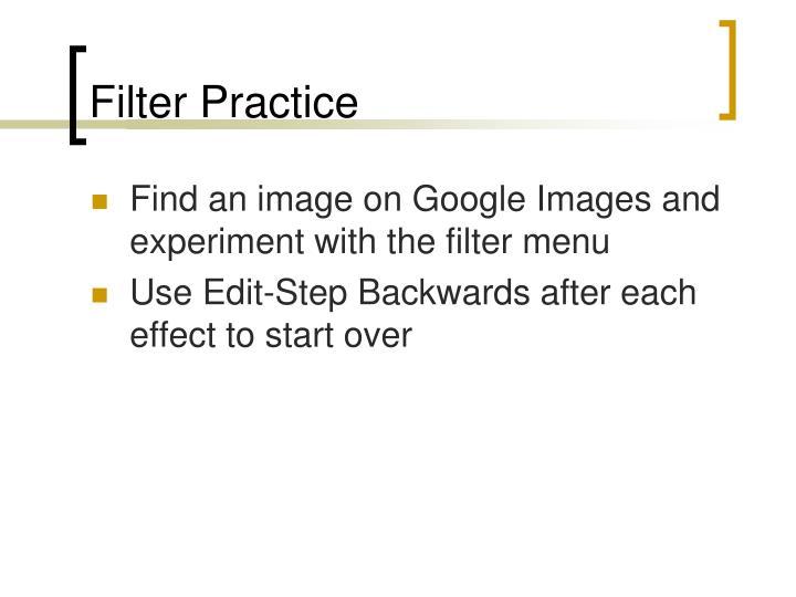 Filter Practice