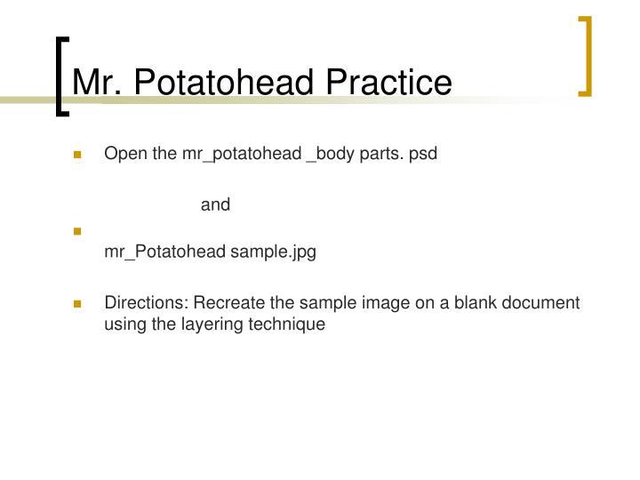 Mr. Potatohead Practice