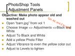 photoshop tools adjustment panels
