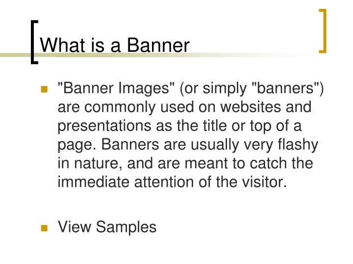 What is a Banner