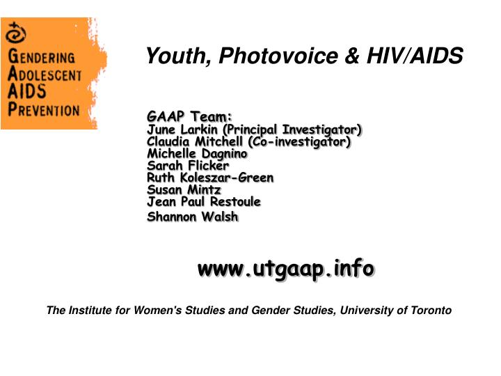 youth photovoice hiv aids