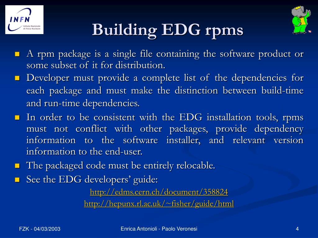 Building EDG rpms