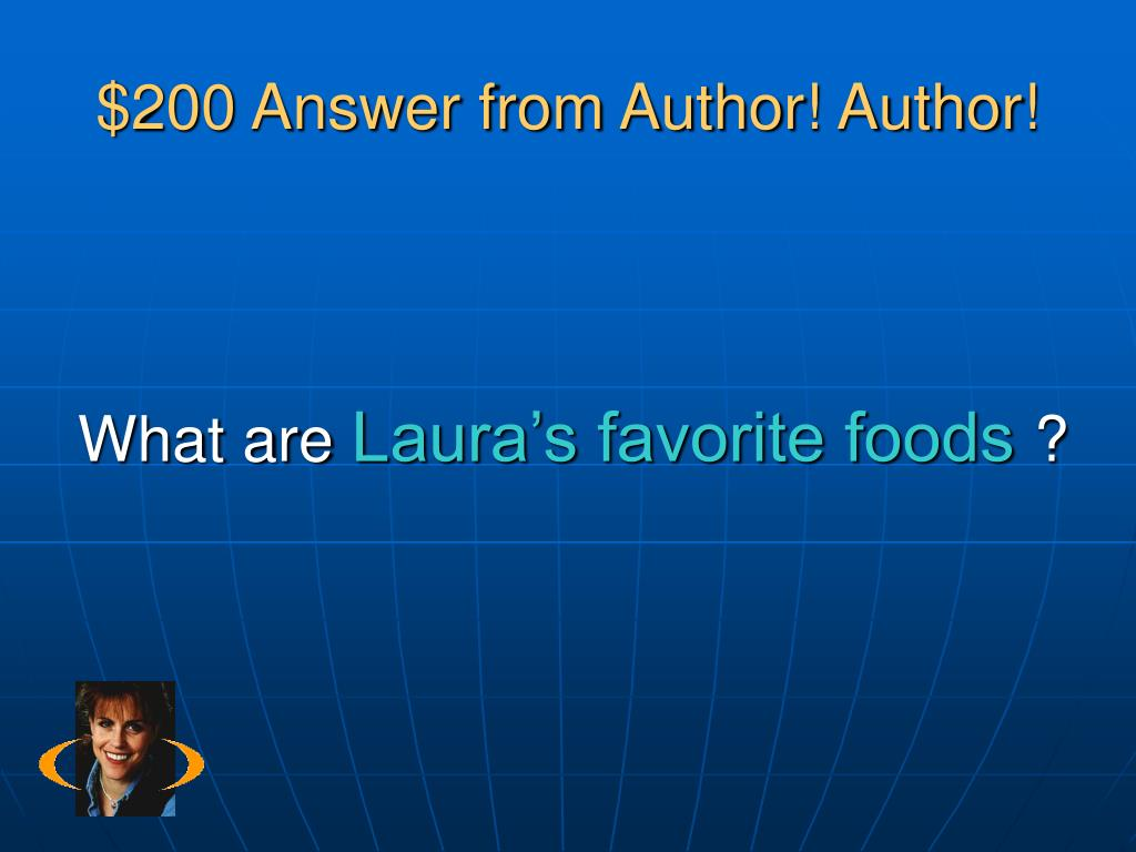 $200 Answer from Author! Author!
