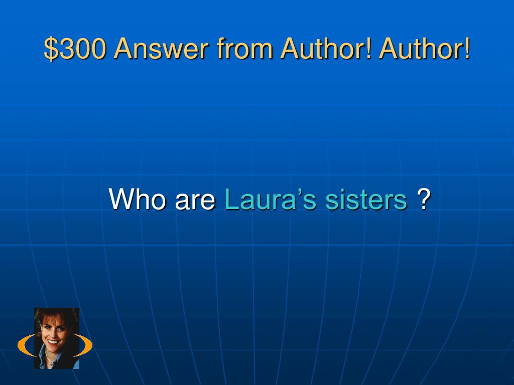 $300 Answer from Author! Author!