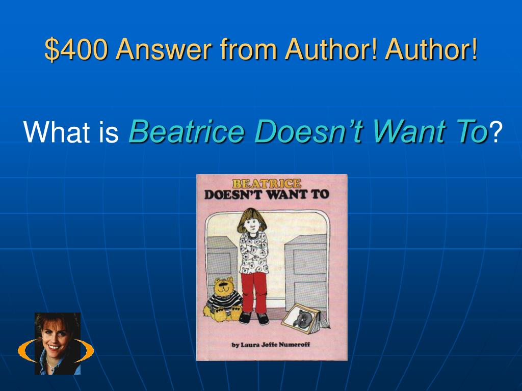 $400 Answer from Author! Author!