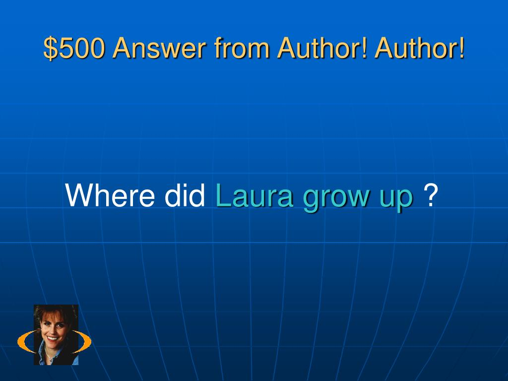 $500 Answer from Author! Author!