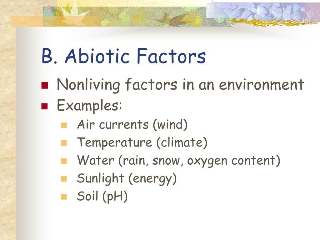 B. Abiotic Factors