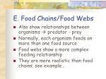e food chains food webs