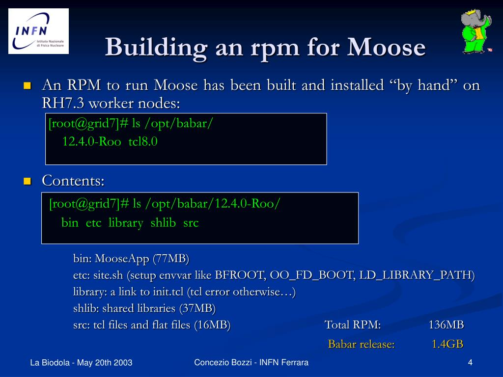 Building an rpm for Moose