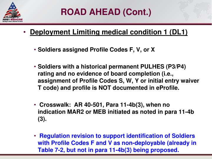 imr assignment f Department of defense instruction 602519 (individual medical readiness (imr)) ar 614-200 (enlisted assignments and utilization management), 26 february 2009.