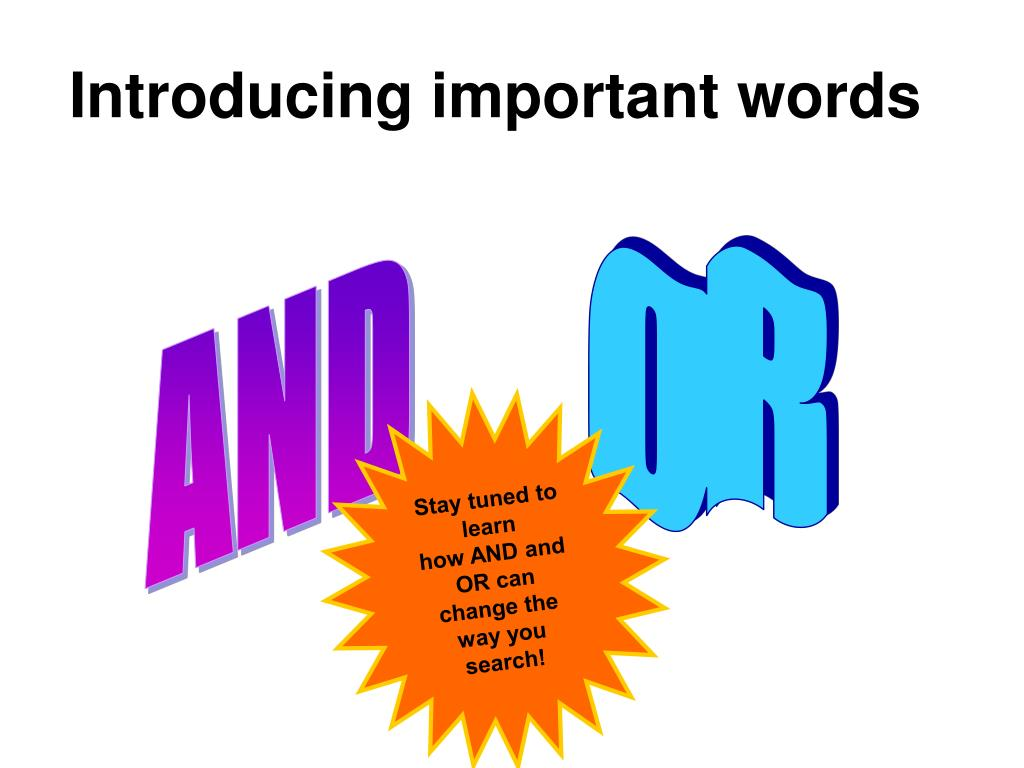 Introducing important words