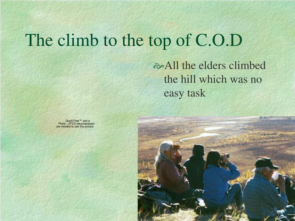 The climb to the top of C.O.D