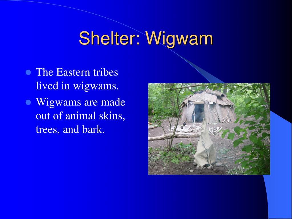 Shelter: Wigwam
