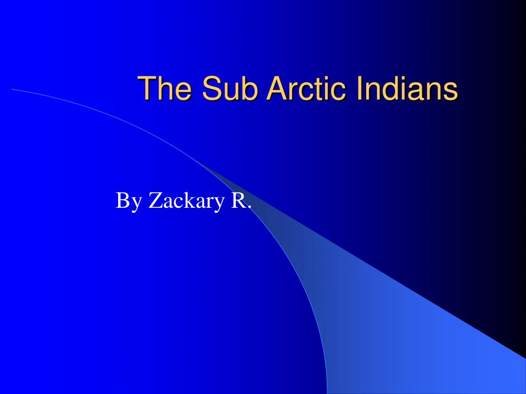 The Sub Arctic Indians