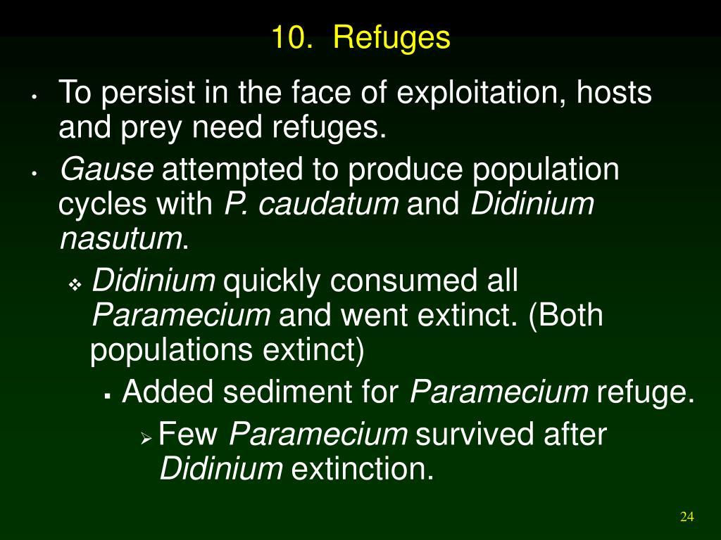 10.  Refuges