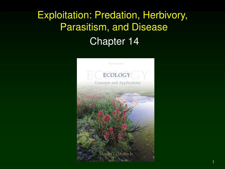 Exploitation predation herbivory parasitism and disease l.jpg