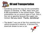 oil and transportation