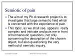 semiotic of pain