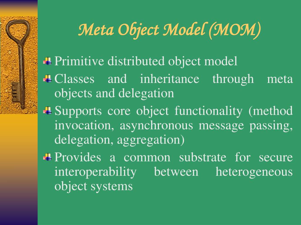 Meta Object Model (MOM)
