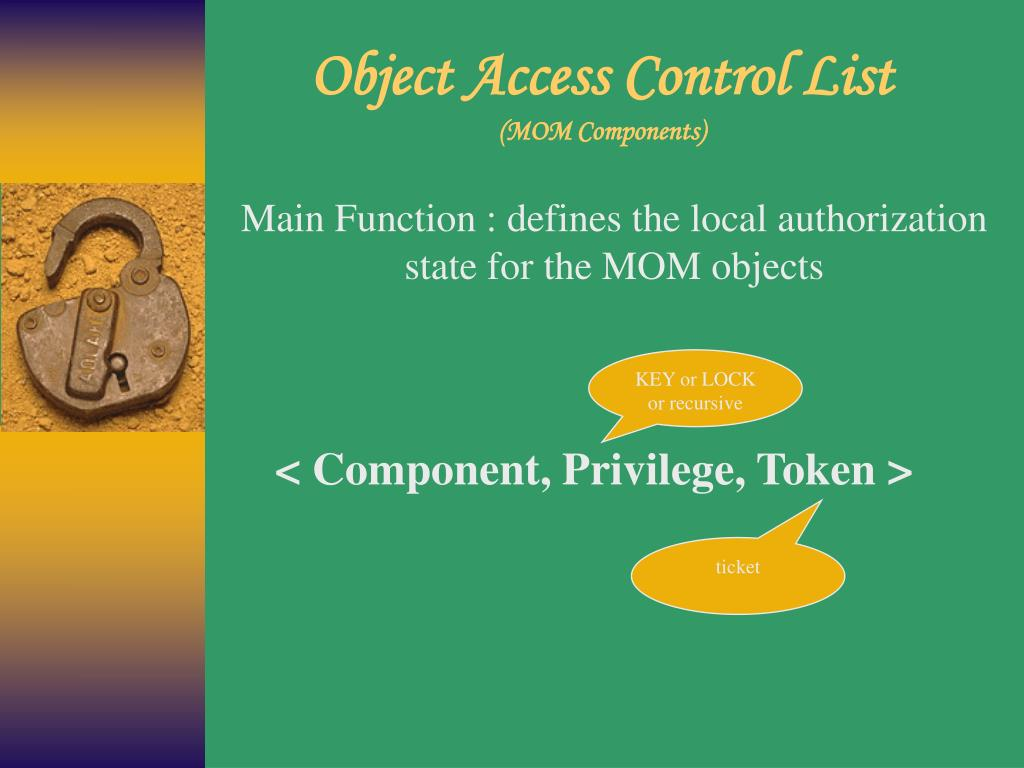 Object Access Control List