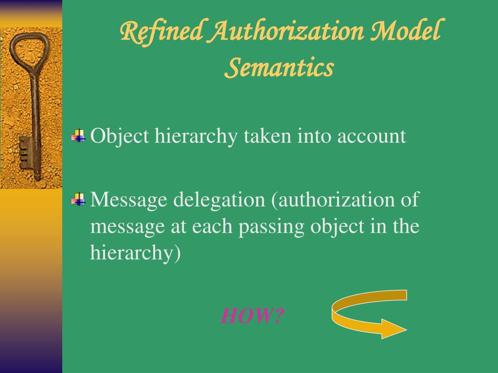 Refined Authorization Model Semantics