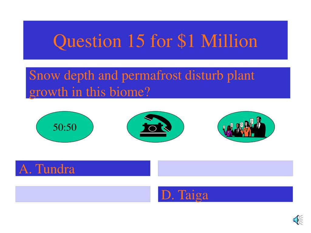 Question 15 for $1 Million