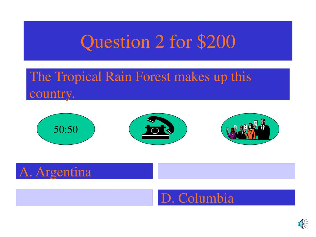 Question 2 for $200