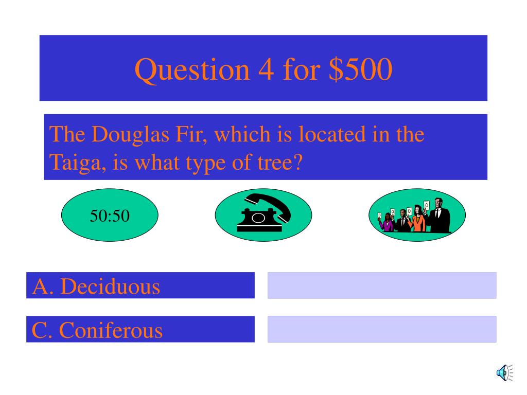 Question 4 for $500