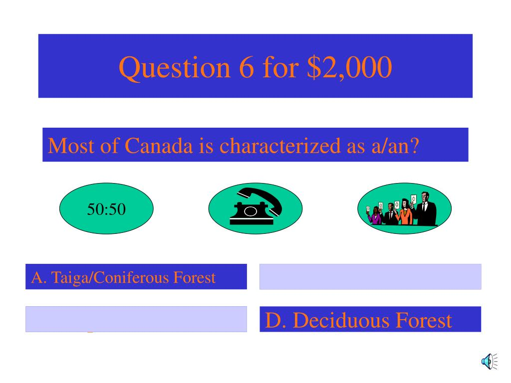Question 6 for $2,000