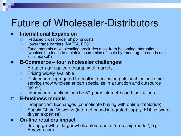 Future of Wholesaler-Distributors