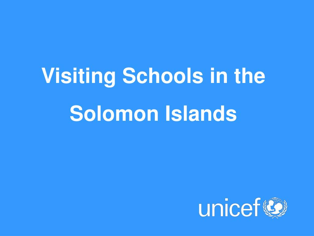 Visiting Schools in the