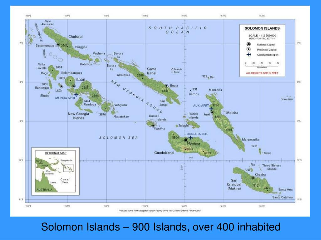 Solomon Islands – 900 Islands, over 400 inhabited