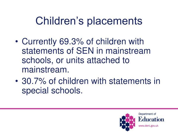Children's placements