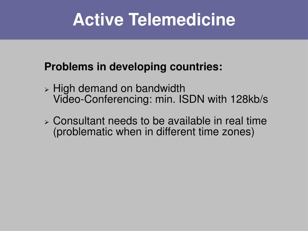 Active Telemedicine