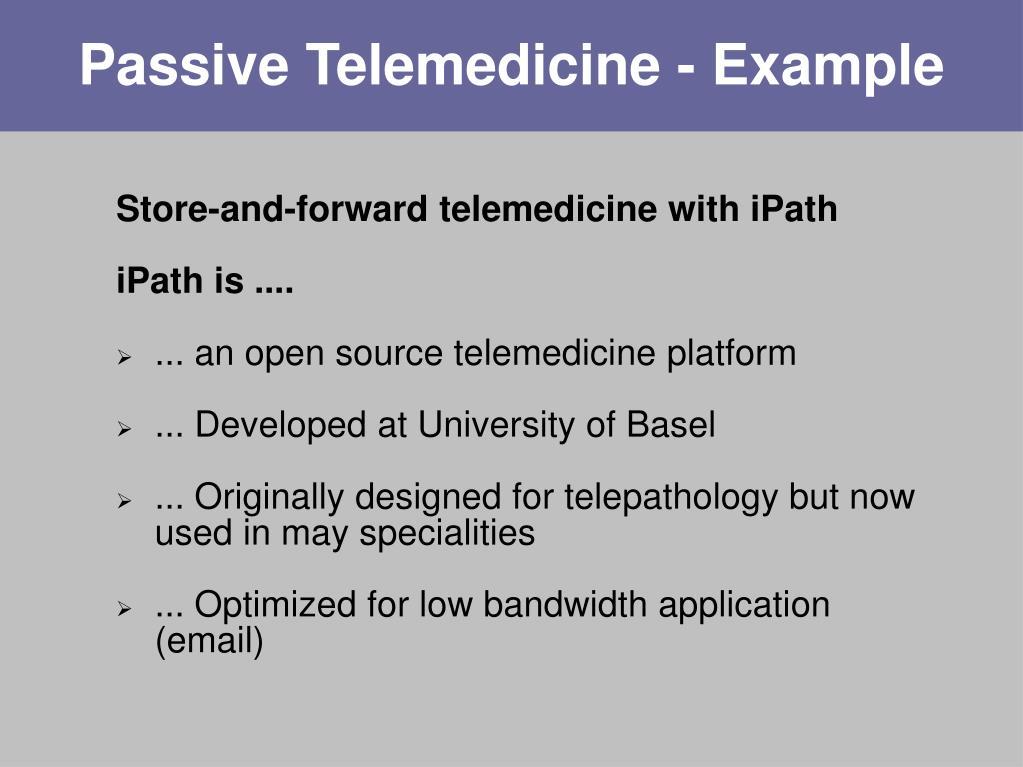 Passive Telemedicine