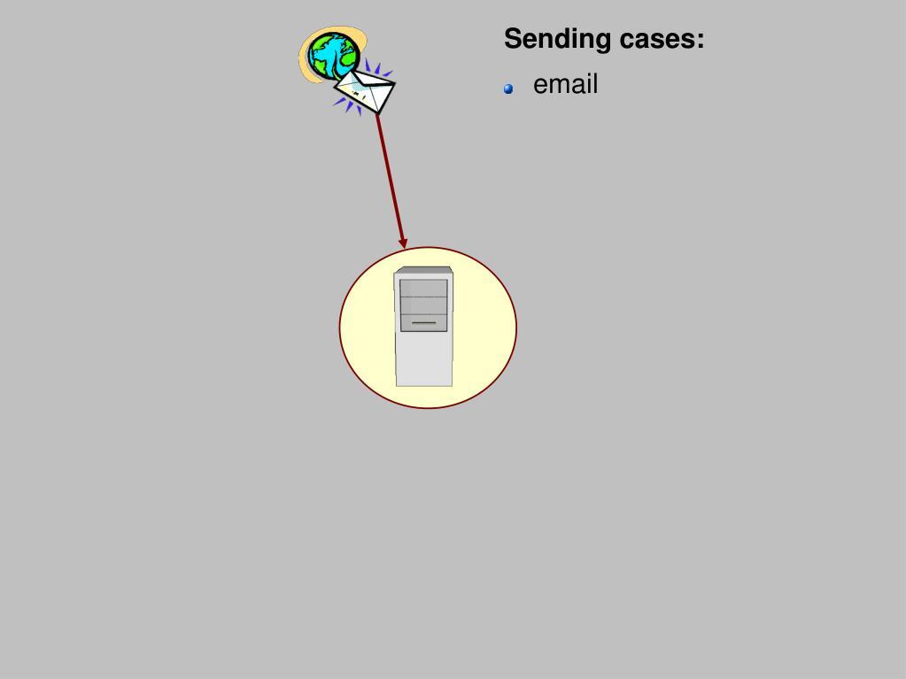 Sending cases: