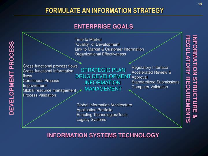 FORMULATE AN INFORMATION STRATEGY