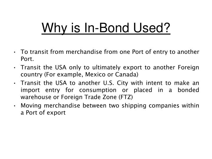 free trade zones bonded warehouses essay To encourage and facilitate international trade, countries all over the world have established export processing zones (epzs) of many types, including free trade zones, special economic zones, bonded warehouses, free ports, and customs zones.