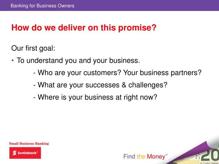 How do we deliver on this promise?
