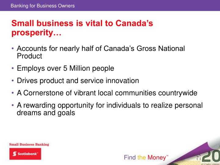 Small business is vital to Canada's