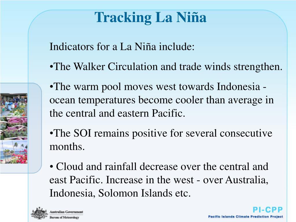 Tracking La Ni