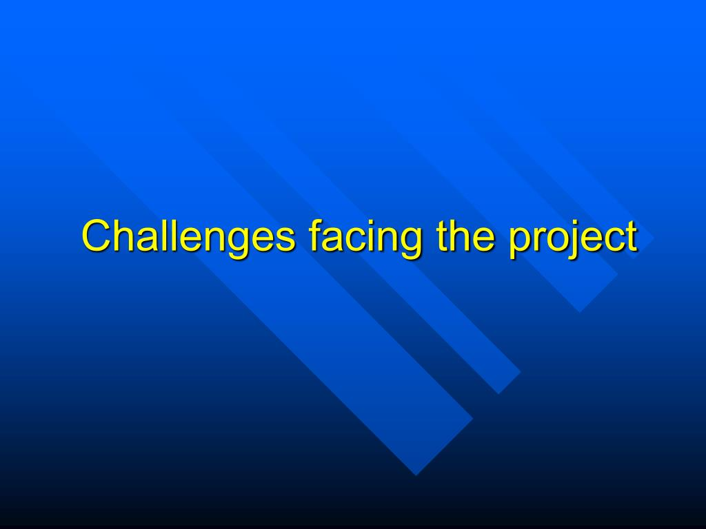 Challenges facing the project