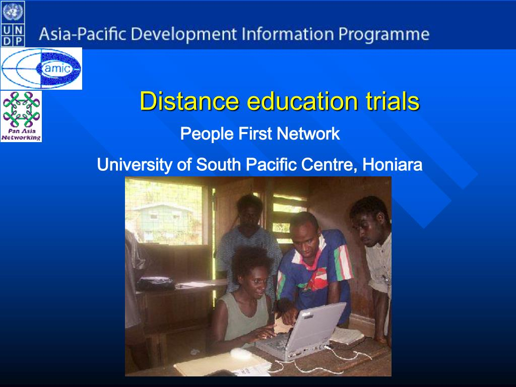 Distance education trials