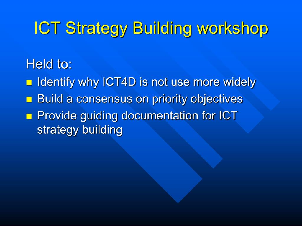ICT Strategy Building workshop