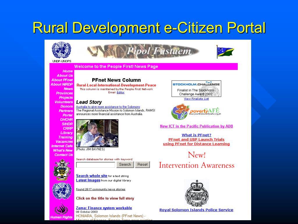 Rural Development e-Citizen Portal