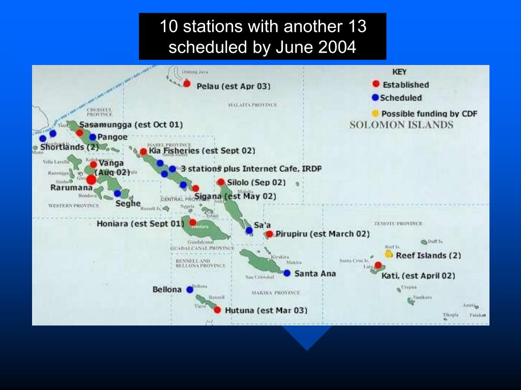 10 stations with another 13 scheduled by June 2004