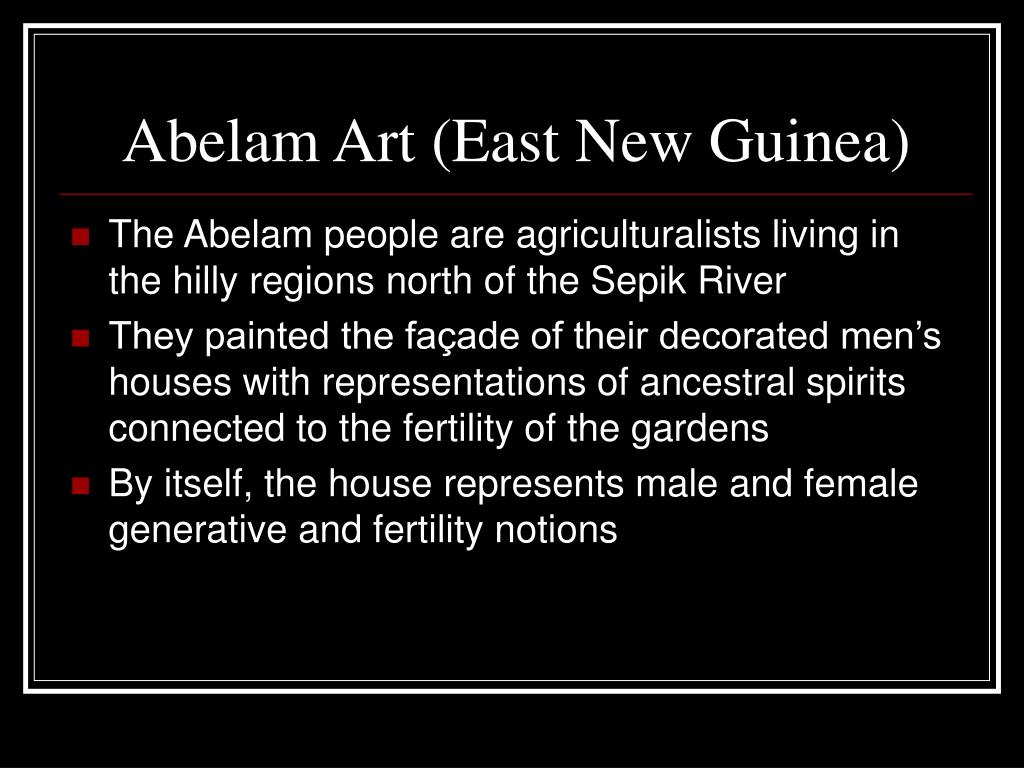 Abelam Art (East New Guinea)