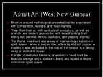 asmat art west new guinea