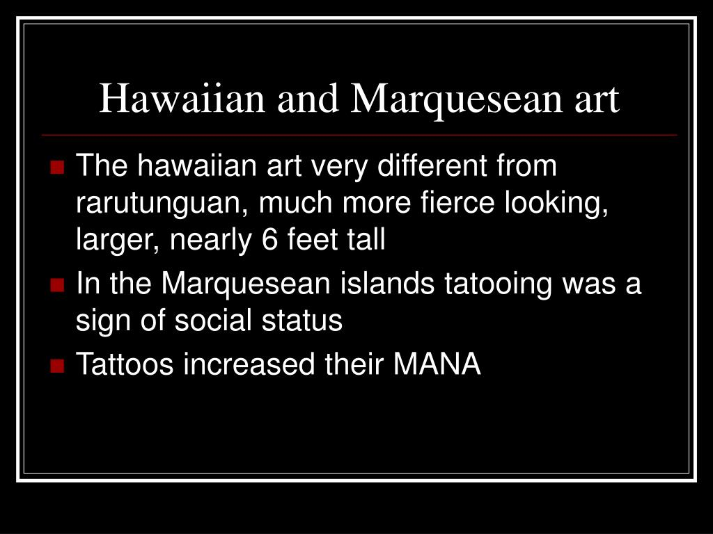 Hawaiian and Marquesean art