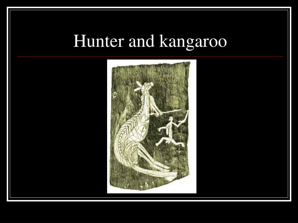 Hunter and kangaroo